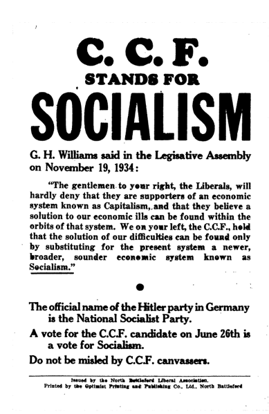 canadian socialism essays ccf ndp The socialist ccf, distinctly western canadian in its origins and character,   finally, social-democrats in the ndp, who became active in alberta during the   essays stress that leaders in the ufa and clp, despite being.